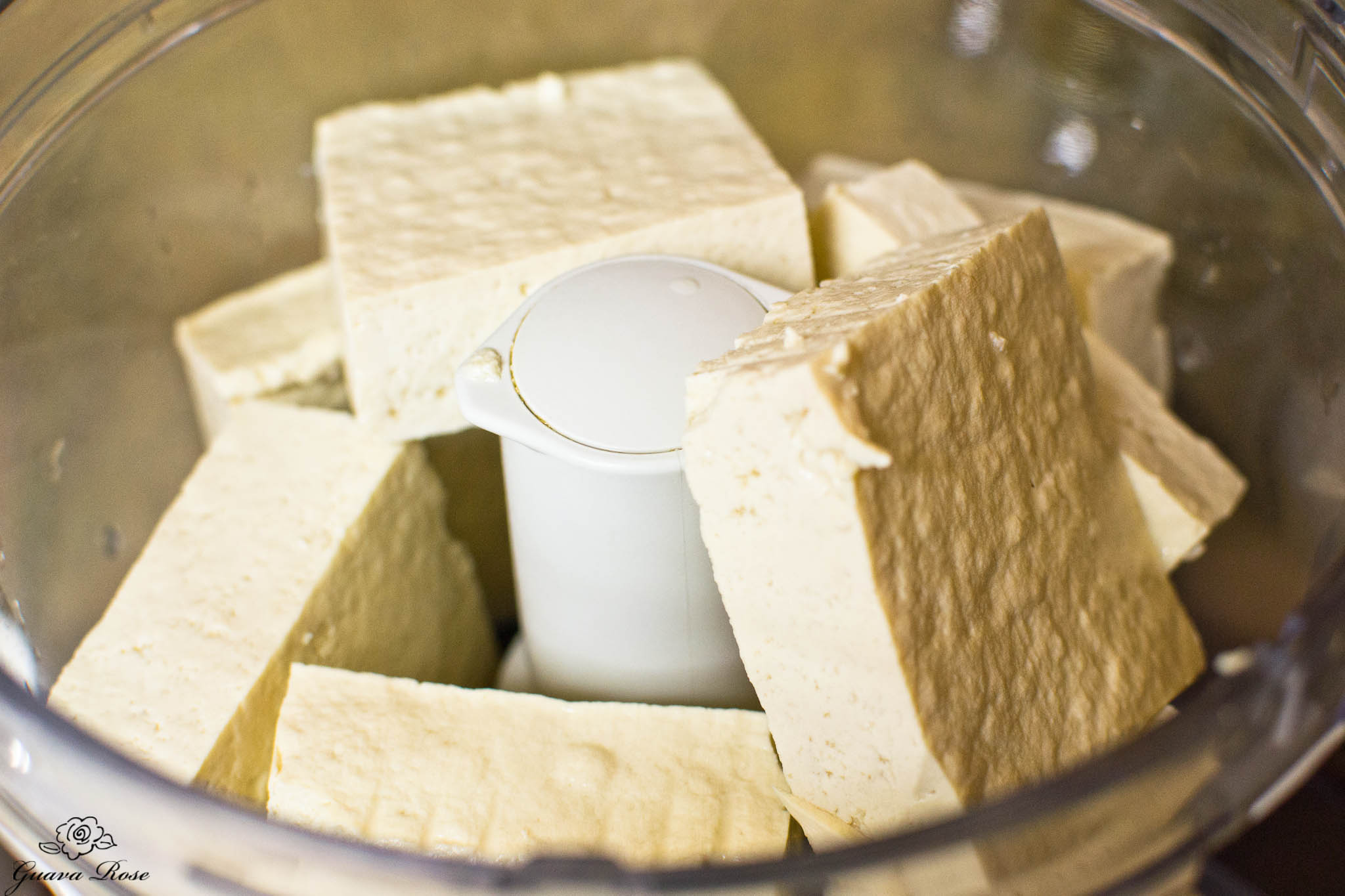 Tofu in food processor