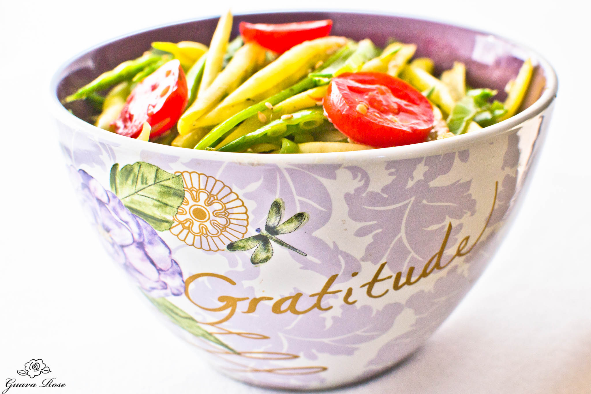 Bowl of Gratitude-stir fried snow peas and yellow string beans 2