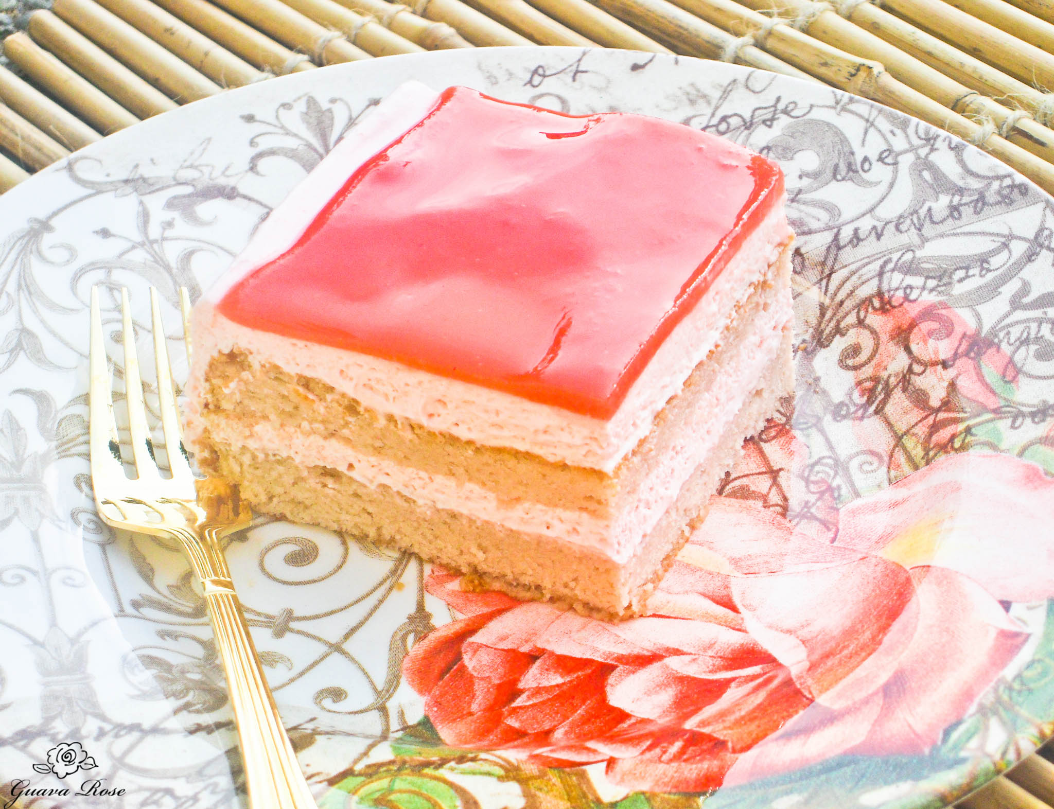 Piece of Guava Chiffon Cake (intro)