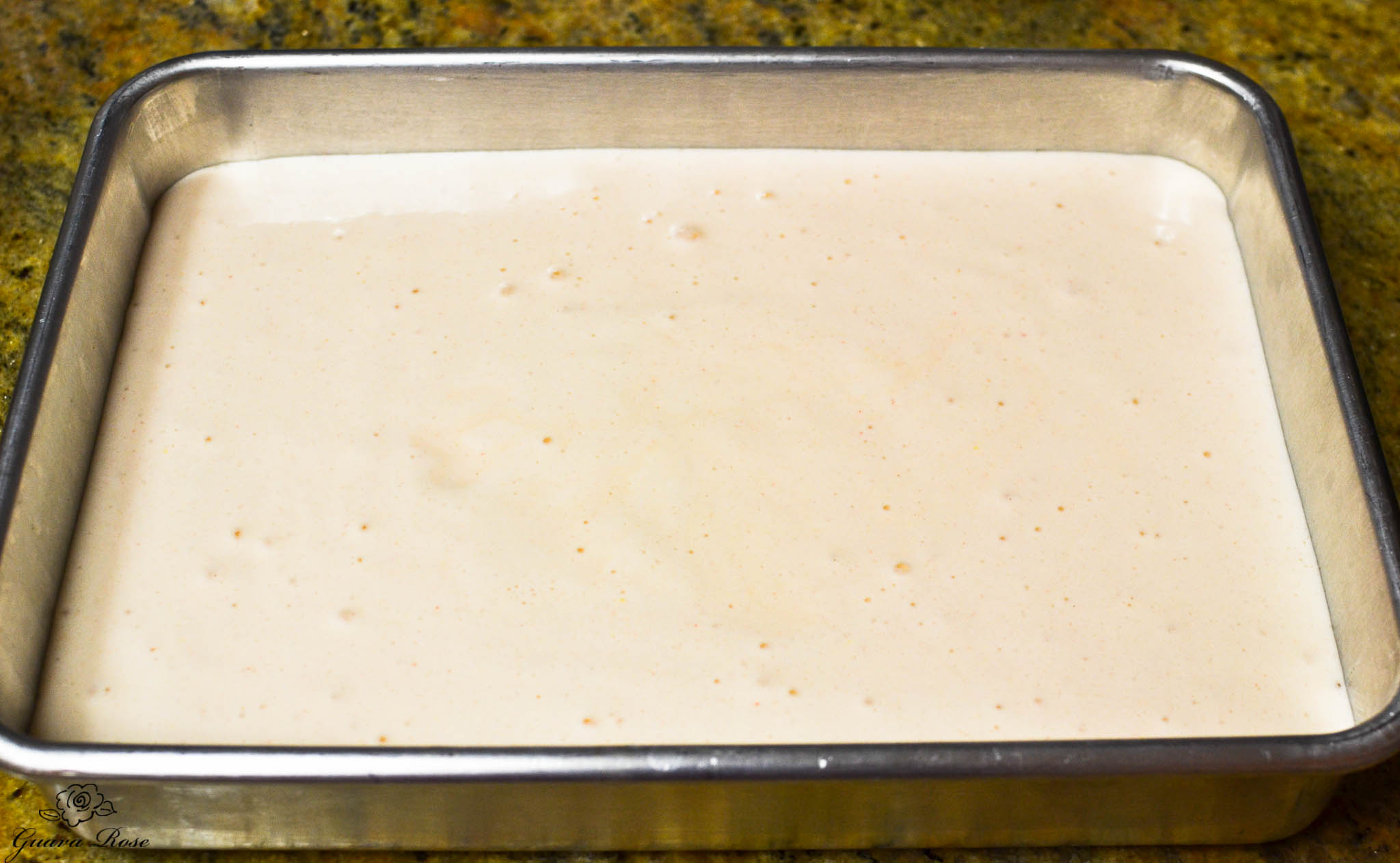 Chiffon Cake Batter in baking pan