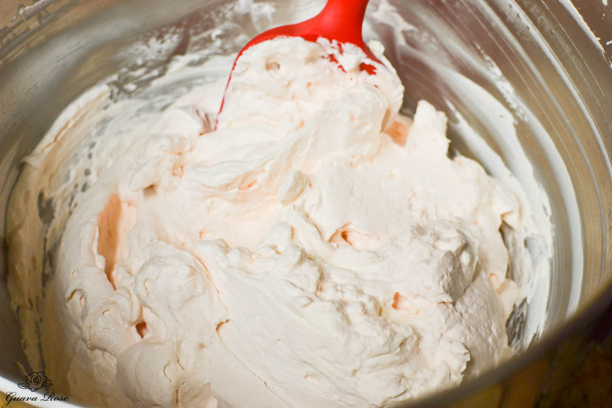 Guava whipped cream