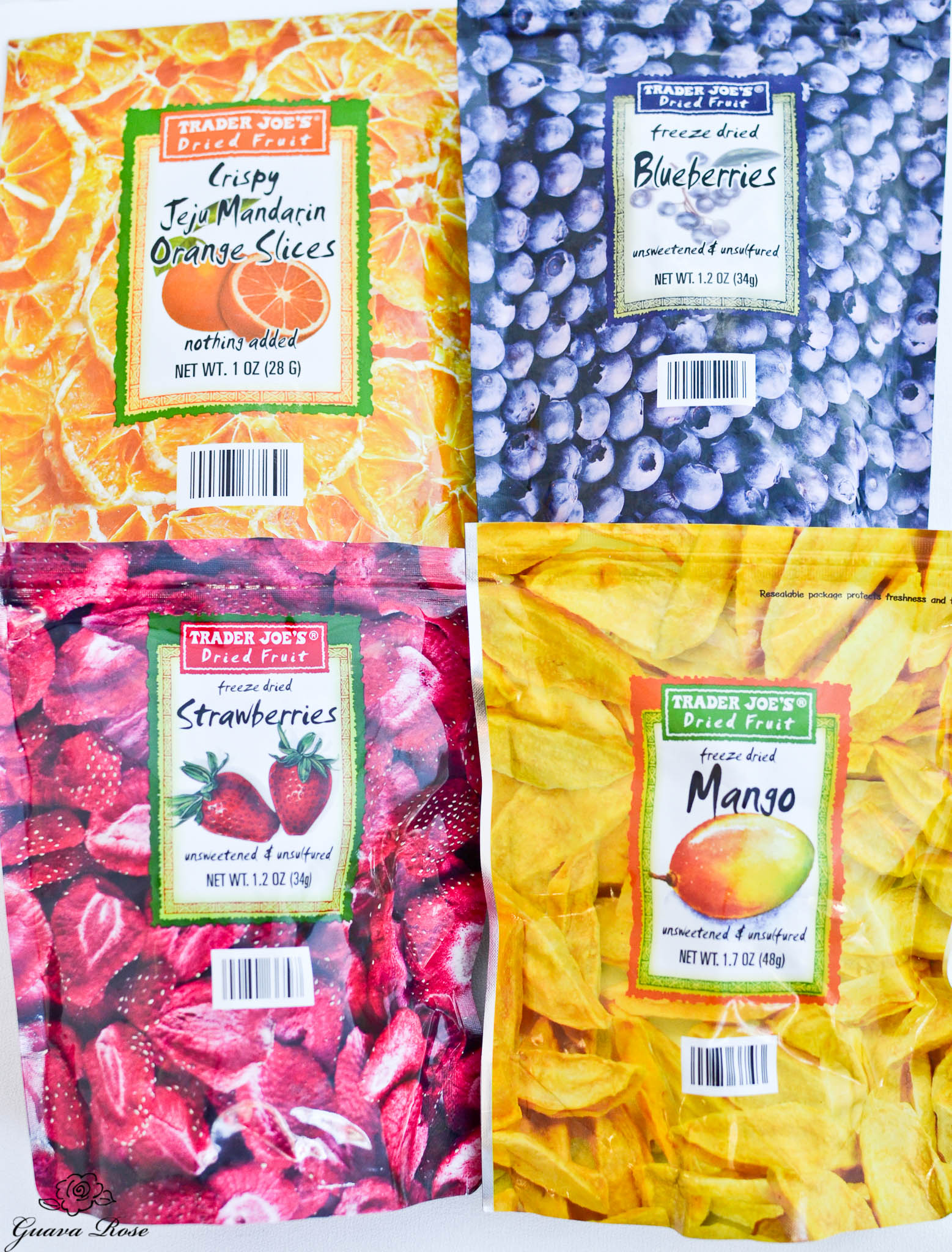 Freeze dried fruit (Trader Joe's)
