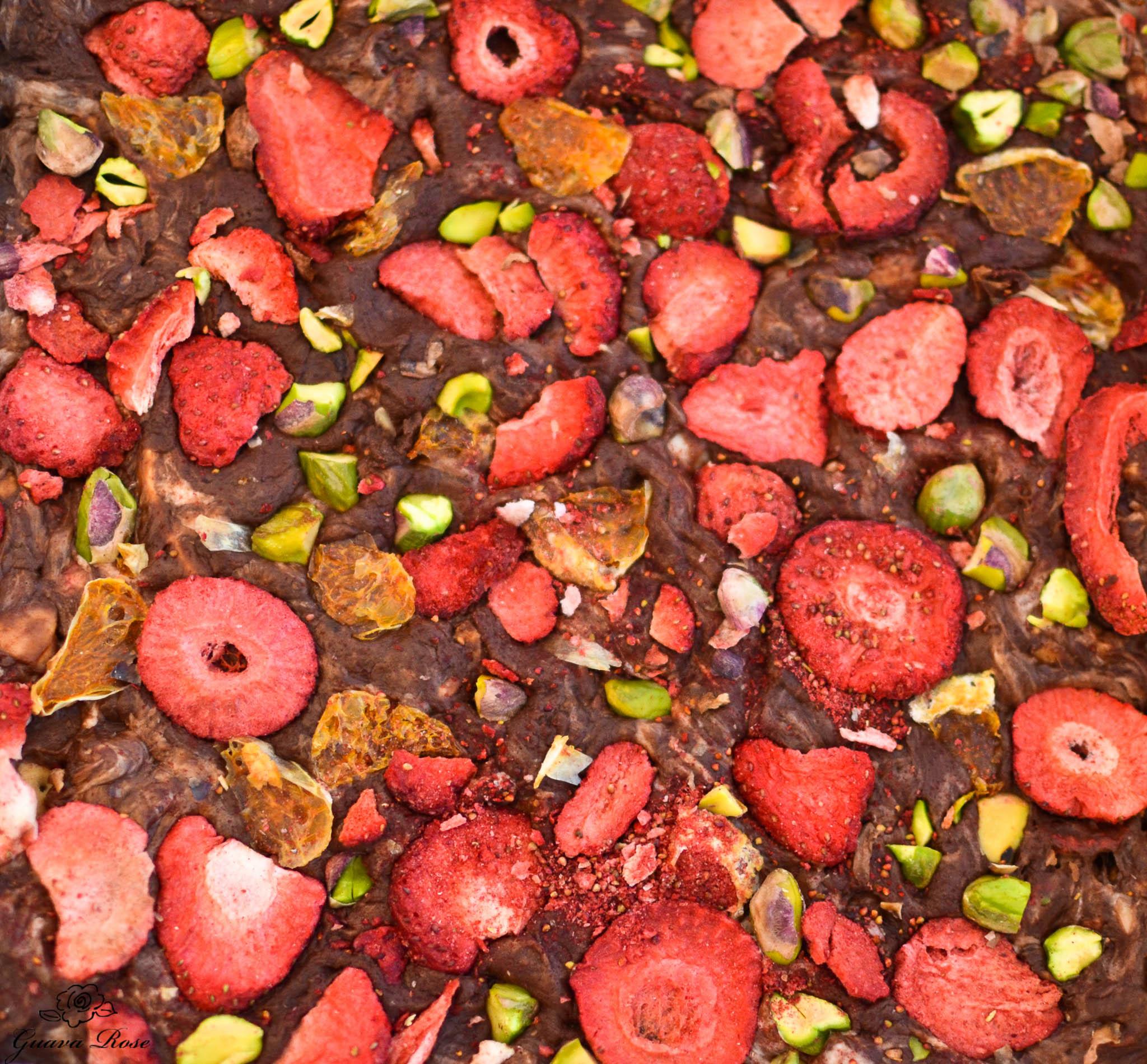 Holiday Fruit and Nut Fudge (Semi-sweet Choc w/ SB,orange, pistaschio)