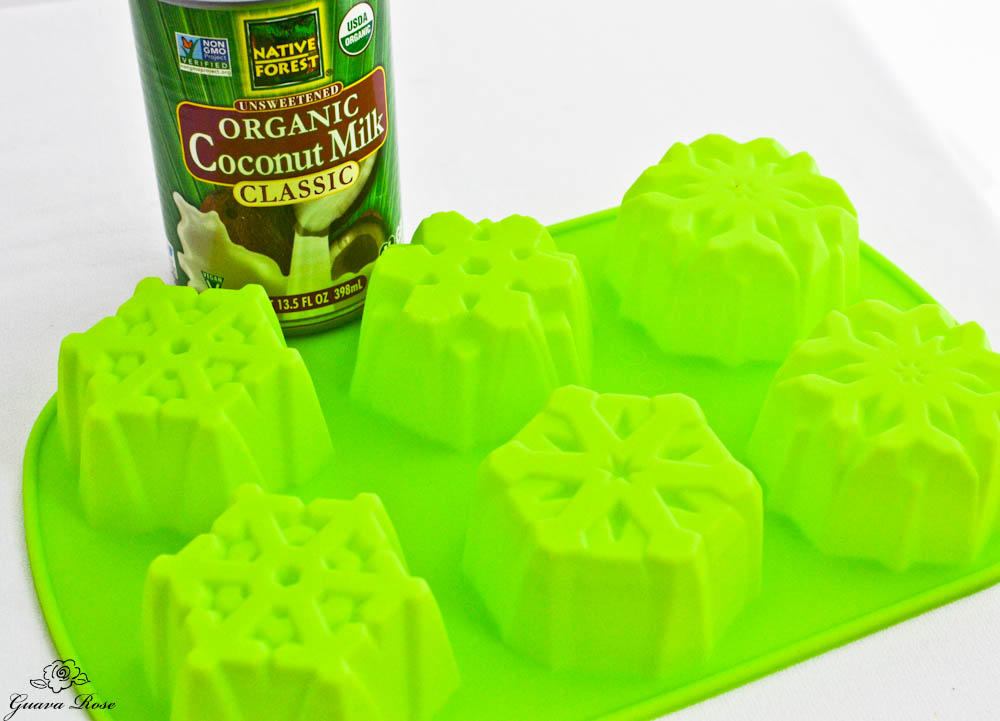 Coconut Milk and snowflake molds