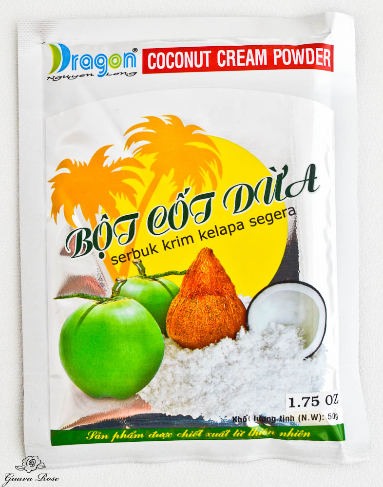 Packet of coconut cream powder
