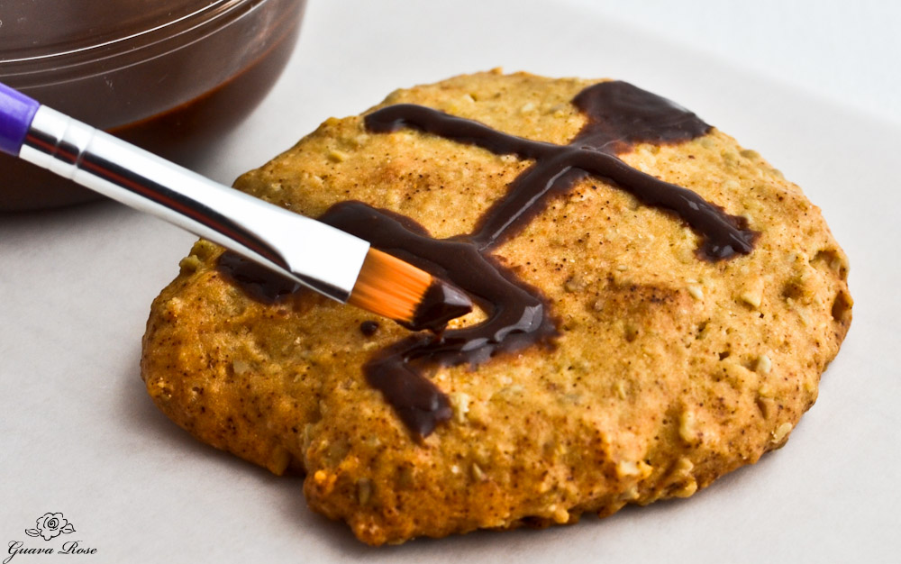 Painting petroglyph cookie