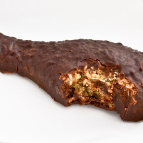 Chocolate covered cookie drumstick w/bite (allergy friendly)
