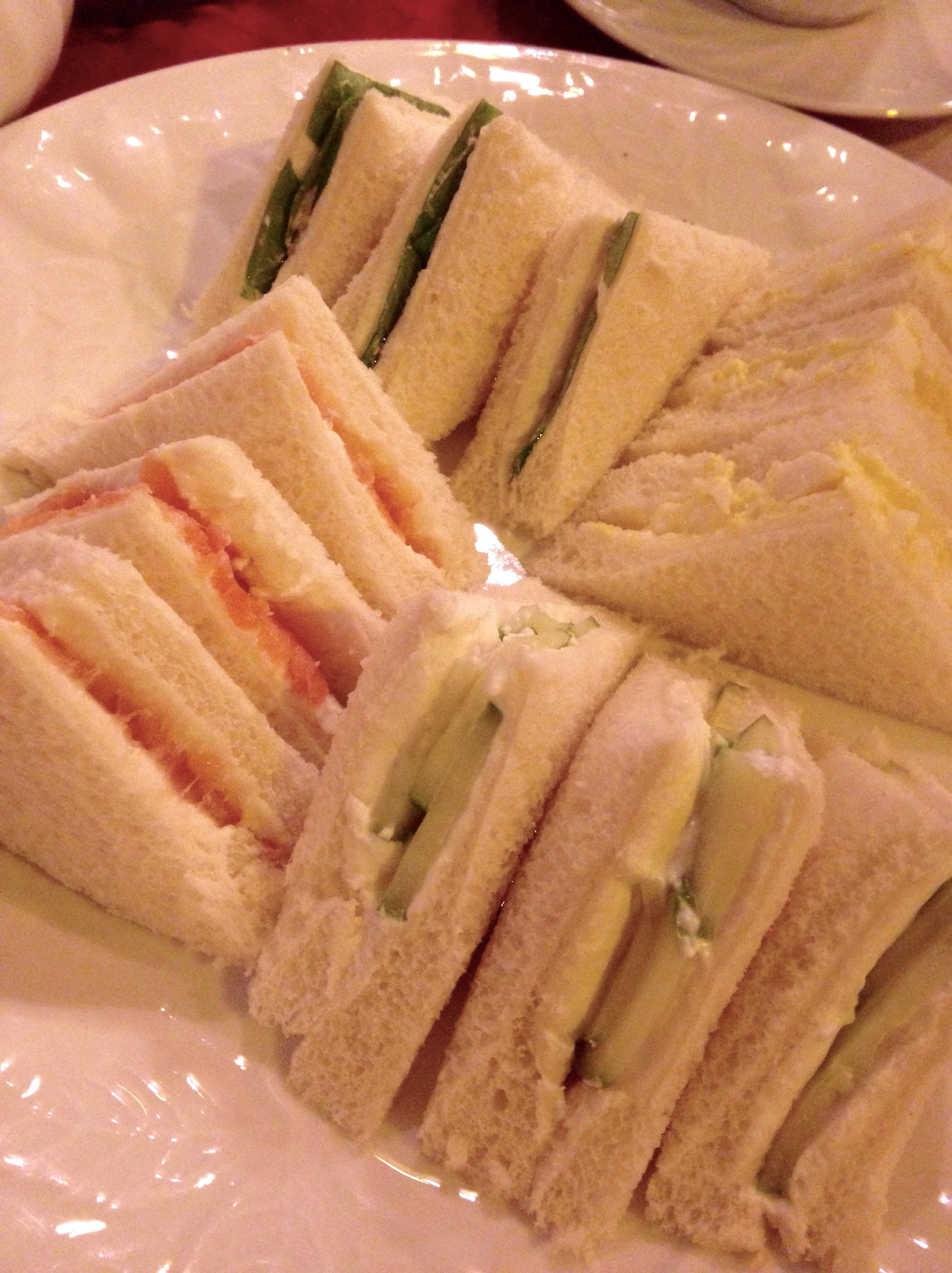 Tea sandwiches, Cuthbert's Tea Shoppe