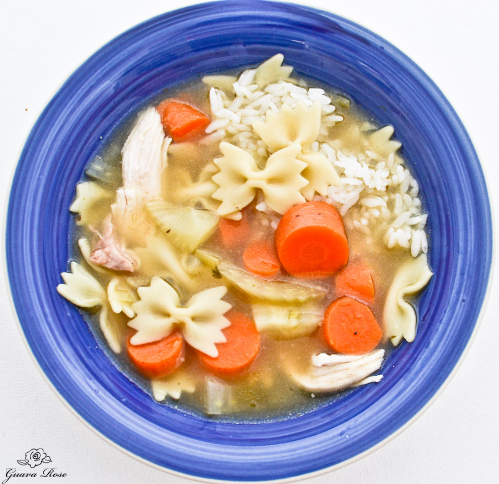 Chicken Noodle Soup, top view