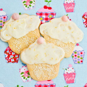 Frosted Lemon Shortbread Cookies