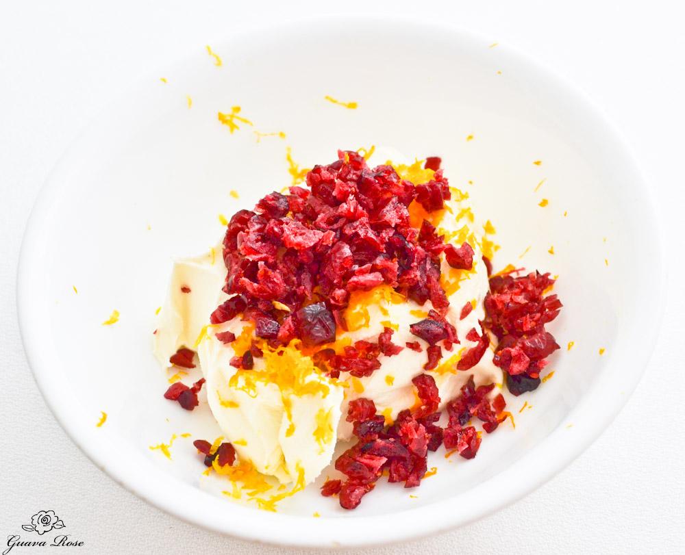 Cranberry Orange Cream Cheese, unmixed
