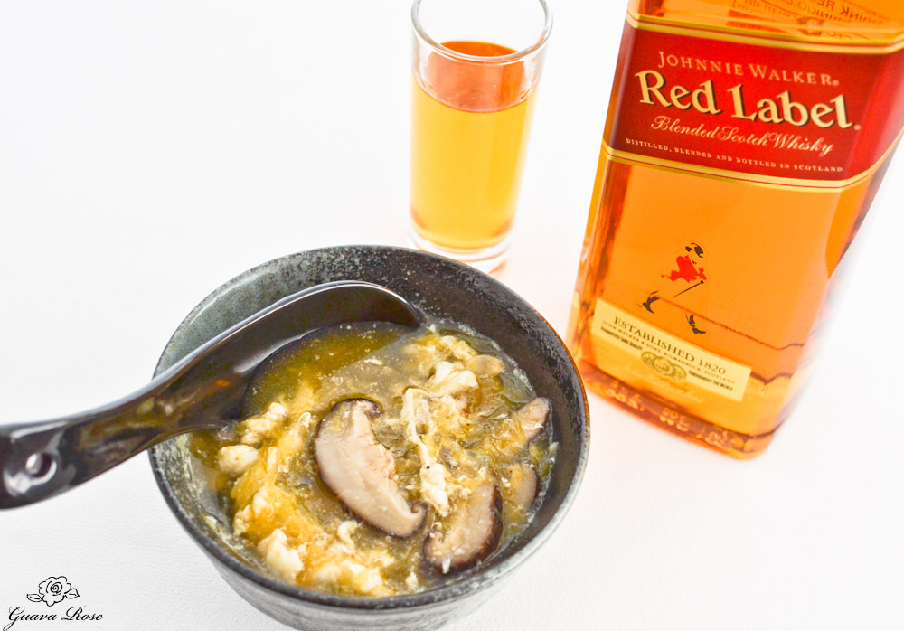 Chinese style Spaghetti squash soup w/Johnny Walker whiskey