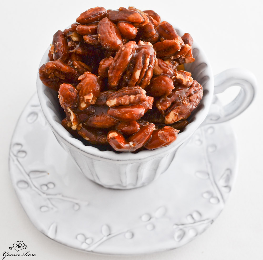 Honey Caramel nuts, top side view