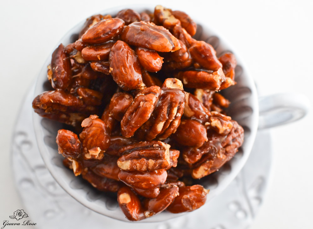 Honey Caramel Nuts, top view