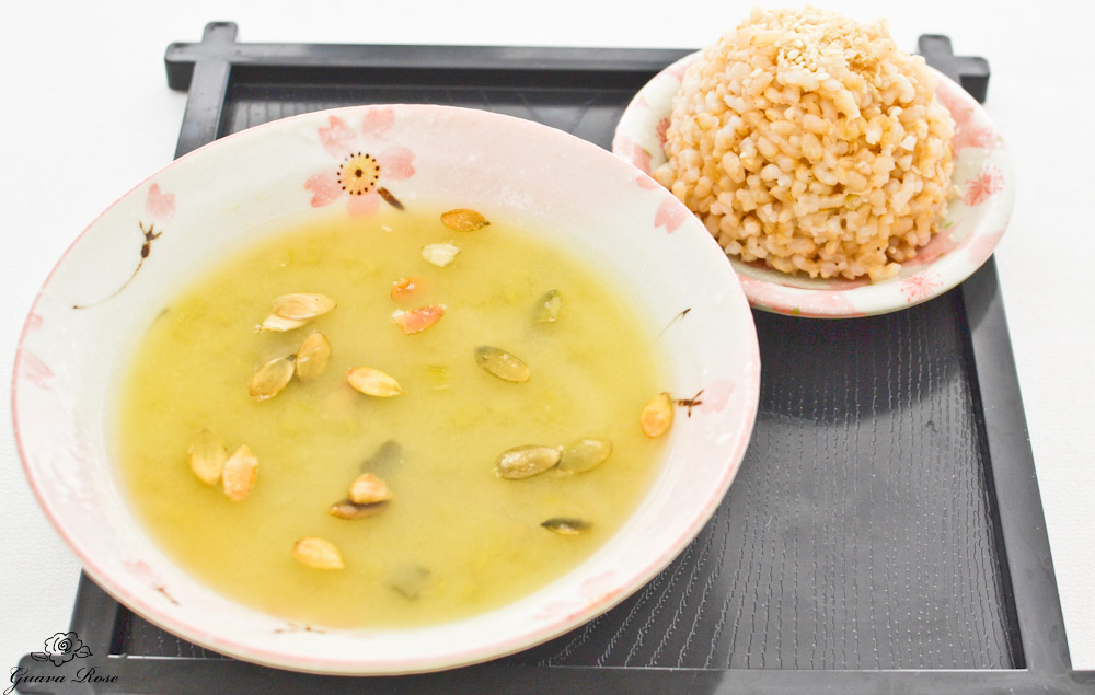 Split Pea Miso Soup w/brown rice on side