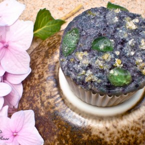 Blueberry Taro Lava Rock Muffins