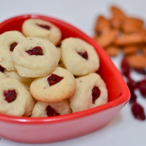 Cherry Almond Cookie Bites