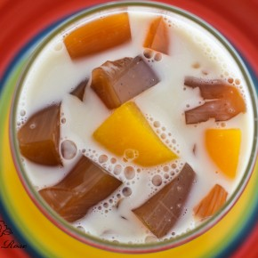 Peach Rooibos Almond Float